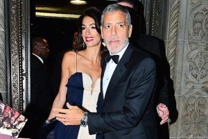 Amal Clooney Looks Stunning In Sheer Gown While Slamming Donald